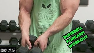 Intense 5 Minute Dumbbell Forearm Workout by Anabolic Aliens