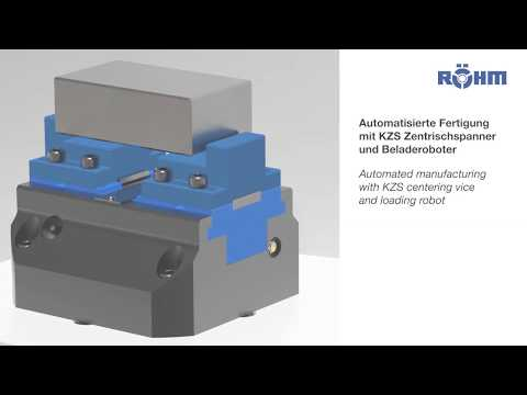 Automated manufacturing with KZS centering vice