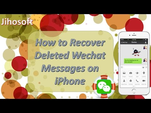 Best Way to Recover Deleted Wechat History on iPhone 2017