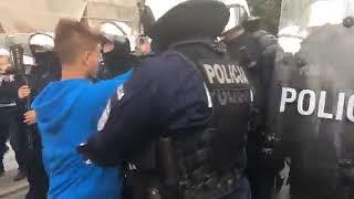 """""""Katolicka"""" blokada Marszu Równości w Płocku."""
