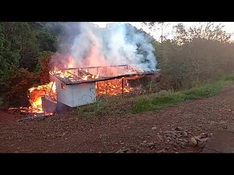 Incêndio em residência em Alto Bela Vista