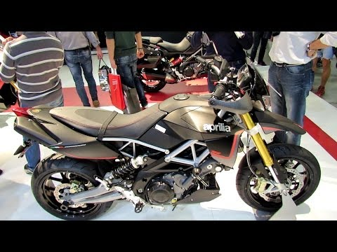 2014 Aprilia Dorsoduro 750 ABS Walkaround - 2013 EICMA Milan Motorcycle Exhibition