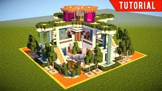 Minecraft How To Build A Large Modern House Tutorial 2017 Minecraftvideos Tv