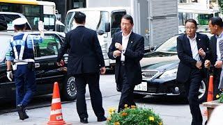 安倍首相車列 SPによる要人警護|VIP警護