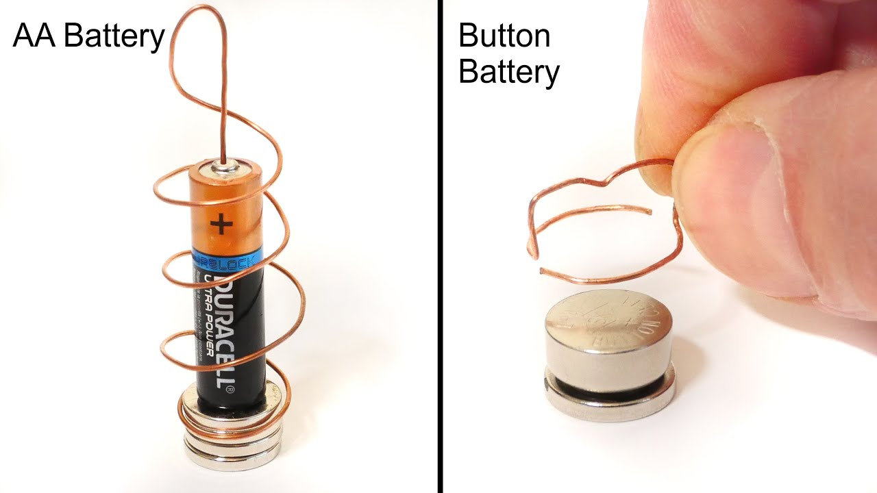 DIY Button Battery Homopolar Motor - Science Experiment thumbnail