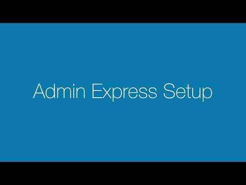 Admin Express Setup