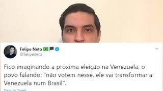 Felipe Neto sendo colocado em seu devido lugar