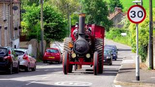Marshall Traction Engine BF7865 Chugs Through Templecombe On Sunday 3rd June 2018