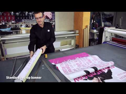 HP Designjet Z series - How to print and assemble a roll-up banner stand with HP Designjet Printers