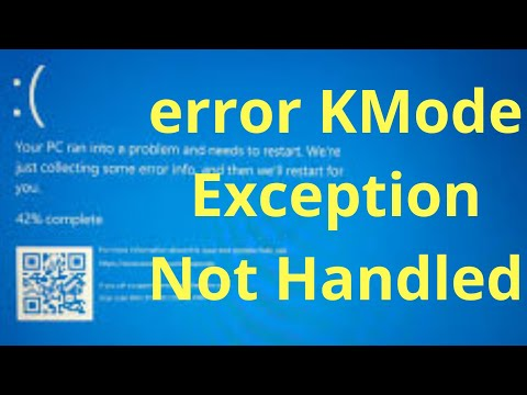 stop code kmode exception not handled what failed igdkmd64.sys