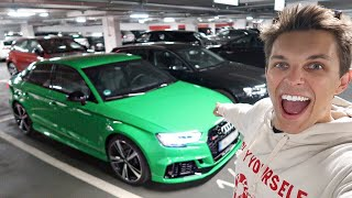 COLLECTING A NEW AUDI RS3!