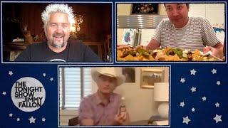 Bill Murray and Guy Fieri Teach Jimmy to Make Classic Nachos thumbnail