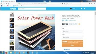 $9 Solar Power Bank from Wish.com (review)