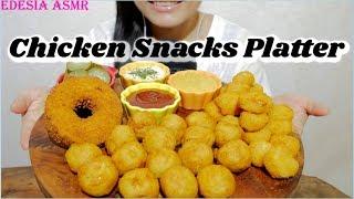 ASMR 咀嚼音✨Chicken Snacks Platter チキンスナック 香酥雞肉炸物 닭튀김 먹방 Friture au poulet *EATING SOUND*