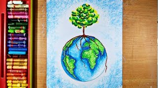 GO GREEN drawing | World Environment Day drawing | World Earth day drawing