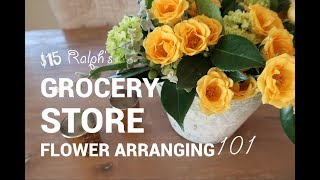 DIY FLOWER ARRANGEMENT USING GROCERY STORE FLOWERS