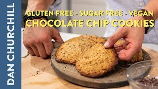 GLUTEN FREE VEGAN SUGAR FREE CHOCOLATE CHIP COOKIES