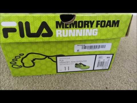 Review of the NEW FILA Memory Foam Aerosprinter Running Shoe