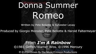 "Donna Summer - Romeo LYRICS - SHM ""I'm a Rainbow"" 1981"