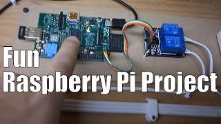 Easy Raspberry Pi Garage Door Remote over Wifi (home automation)