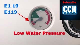 How to repair your Baxi E119 fault , Main and Potterton