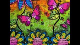 Create Happiness..Art Journal Page..Mixed Media