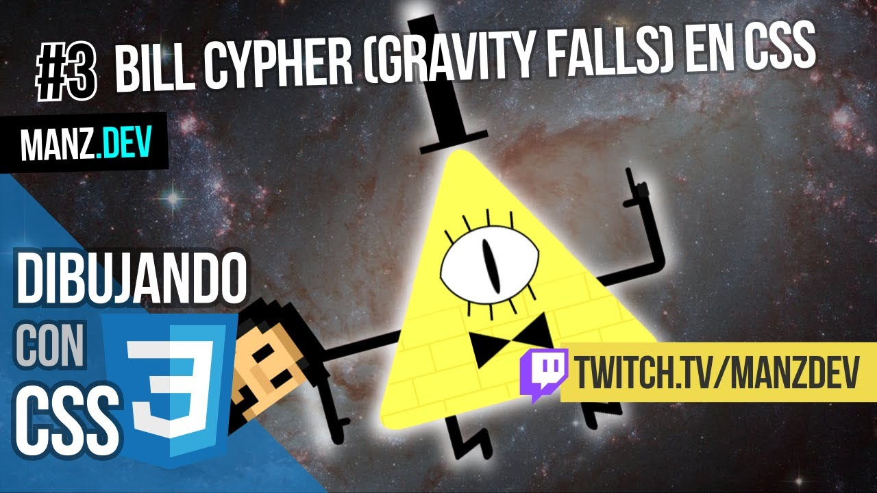 Dibujando a Bill Cypher (Gravity Falls)