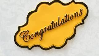 Congratulations Cake Plaque Mould