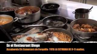 preview picture of video 'ESMORZARS DE FORQUILLA AL RESTAURANT DIEGO - SANTA BÀRBARA - TERRES DE L'EBRE - TARRAGONA'