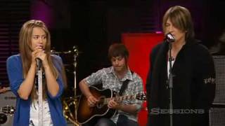 Miley Cyrus and Billy Ray singing Butterfly Fly Away HQ