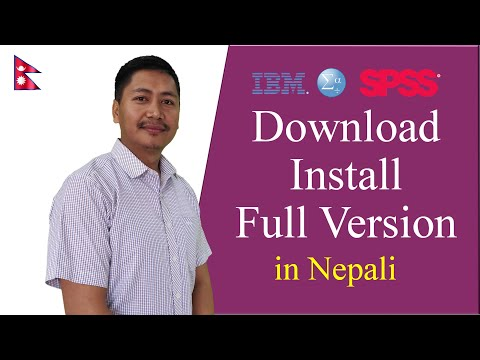 Download and Install full version IBM SPSS in Nepali