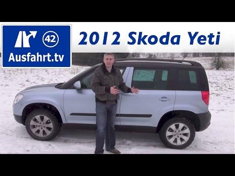 Fahrbericht 2012 Skoda Yeti 4x4 2.0 TDI 140 PS Elegance