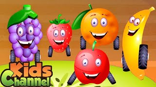 Five Little Fruits | Nursery Rhymes And Kids Songs | Cartoon Videos And Music - Kids Channel