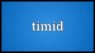 Timid Meaning