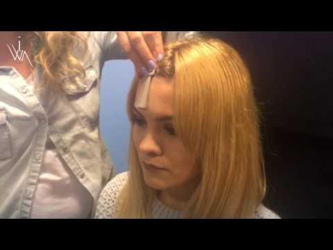 Koncepcja fuzja maski czekoladowe włosy