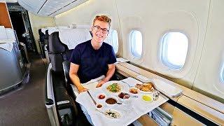 BEST FLIGHT EVER! Alone in Lufthansa First Class |747-8 |Frankfurt - Bangalore