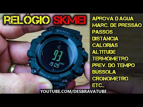 Relógio Tático (Tipo G-Shock) por menos de R$ 90,00 - Função bussola, passos, altímetro etc.