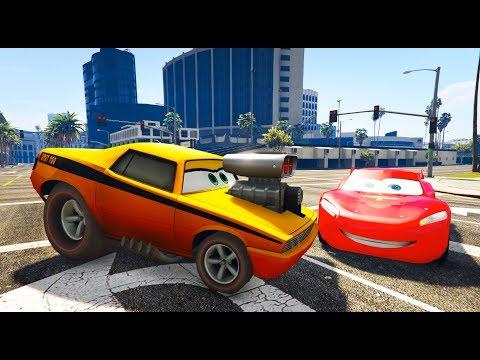 Şimşek Mcqueen'in Rakibi Snot Rod Geliyor - Jackson Storm Mater (GTA 5 Hikaye Modu)