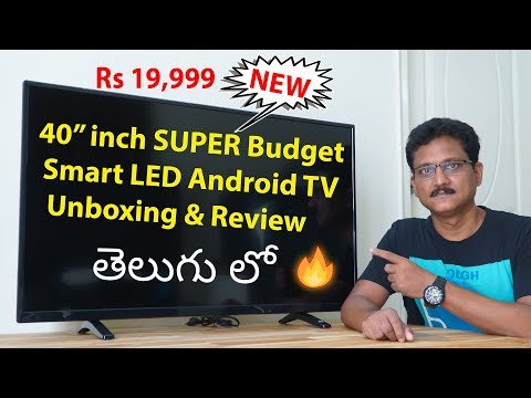 40 inch Super Budget Smart Android LED TV Review in Telugu…