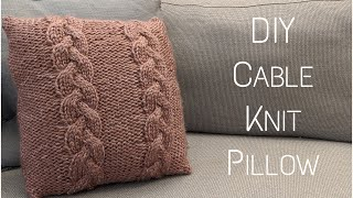 DIY Cable Knit Pillow | Step - by - Step Tutorial | Knitting House Square