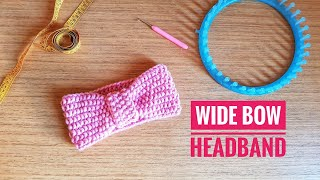 How to Loom Knit a Wide Bow Turban Headband (DIY Tutorial)
