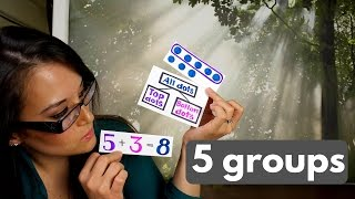 1st Grade Math: 5-Group Cards & How They Work
