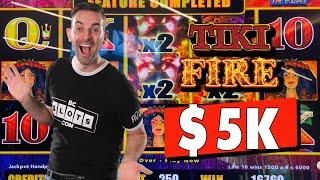 🌋 $5,000 Solo Slot Pull: TIKI FIRE 🌋