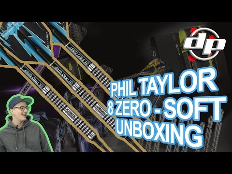 PHIL TAYLOR DARTSET - 8 ZERO - SOFT - INFOS & UNBOXING - Deutsch