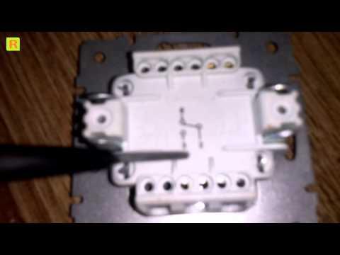 Как подключить проходной выключатель Lezard