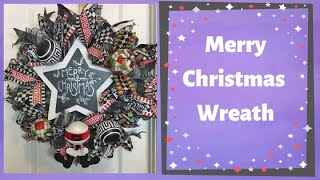 How To Make A Deco Mesh Wreath With Poof Curl Method For Christmas