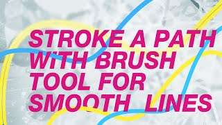 Photoshop Tutorial: Use the Pen Tool & Brush Tool to Create Smooth Lines & Shapes (in-class demo)