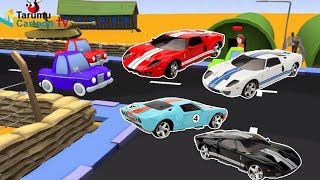 Learn the Colors with Racing Cars   Learn Colors with Race  Cars & Cartoon for Kids Nursery Rhymes