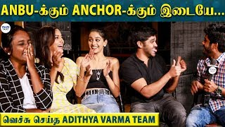 ANBU and ANCHOR recreate ADITHYA VARMA's Romantic Scene | Dhruv Vikram | Priya Anand | LittleTalks