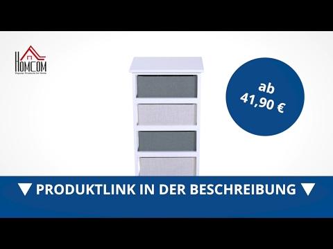 Homcom Schubladenkommode Stoffkommode Korbregal mit 4 Schubladen - direkt kaufen!